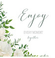 watercolor style floral greeting wedding invite vector image