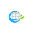 world care logo icon design vector image