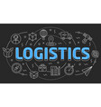 linear logistics vector image