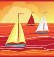 sails in sea vector image