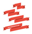 red web ribbon banners set vector image