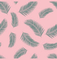 abstract exotic palm leaf plants seamless vector image vector image