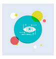 advanced future gen science technology eye white vector image vector image