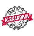 alexandria round ribbon seal vector image vector image