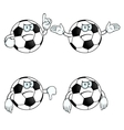 Angry cartoon football set vector image vector image