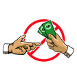 Anti Corruption Hand Sign vector image vector image