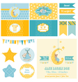 Baby Shower Sleeping Bear Theme vector image vector image