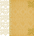 Background floral border vertical gold vintage vector image