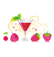 berry liqueur vector image vector image