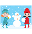 build the snowman vector image vector image