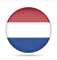 button with flag of Netherlands vector image