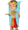 Cartoon Egyptian with golden crown vector image vector image
