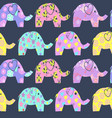 cheerful seamless pattern with colorful cute vector image vector image