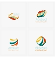Clean elegant circle shaped abstract geometric vector image