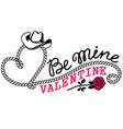 cowboy valentine day country farm with vector image vector image