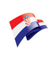 croatia flag on a white vector image vector image
