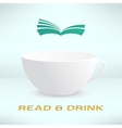 cup with book in realistic design Boooks vector image vector image