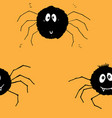 cute spider seamless pattern cartoon hand drawn vector image vector image