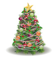 Decorated New year tree vector image