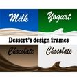 Dessert design frames vector image