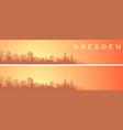 dresden beautiful skyline scenery banner vector image vector image