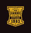 emblem of rafting club vector image vector image