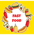 fast food wreath vector image vector image