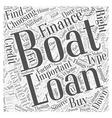 Financing A Boat Word Cloud Concept vector image vector image