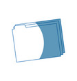 folder file document paper archive office supply vector image vector image