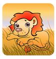 friendly lion vector image