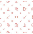 gadget icons pattern seamless white background vector image vector image