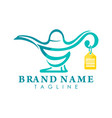 Genie lamp store logo creative concept
