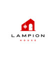 hanging lampion house logo icon vector image