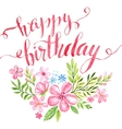 happy birthday hand-drawn card vector image vector image