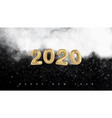 happy new year 2020 natural winter background with vector image vector image
