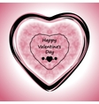 Happy Valentines Day Greeting Card on pink vector image vector image