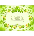 Holiday frame with green clover vector image vector image