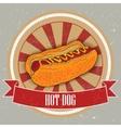 hot dog on vintage background - grunge cover for vector image