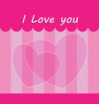 i love you scene vector image