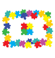 jigsaw puzzle parts vector image vector image
