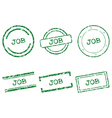 Job stamps vector image vector image