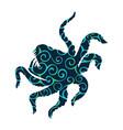 kraken giant octopus pattern silhouette ancient vector image