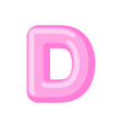 letter d candy font caramel alphabet lollipop vector image vector image