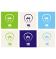 Light bulbs eco icon set vector image