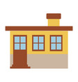 light color silhouette of small house facade with vector image vector image