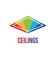 logo of ceilings floors vector image