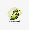 logo owl night mascot cartoon style vector image vector image
