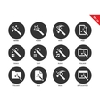 Magic icons on white background vector image vector image