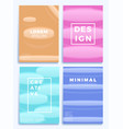 medical gradient waves stock four cover design vector image vector image