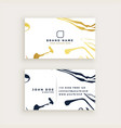 minimal style business card design vector image